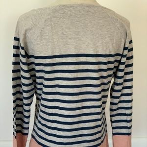 Orvis striped long sleeve knit shirt size s